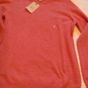 Bass Women's crew neck sweater NWT sz M mauve pink